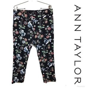 LIKE NEW ANN TAYLOR Devin Fit Floral Crop Pants 8